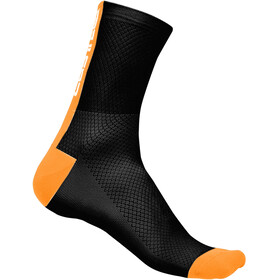 Castelli Distanza 9 Strumpor orange/svart